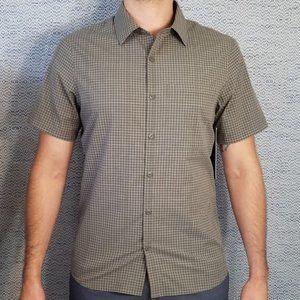 Lululemon Grid Light Short Sleeve button up shirt